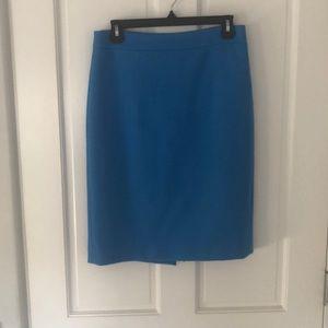 Cobalt blue wool skirt.